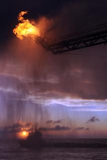 Deepwater Horizon Flaring Operation