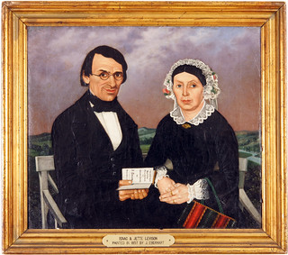 Painting [67.1.6.24]: Portrait of Isaac and Jette Levison by J. Eberhart. Southern Germany 1857