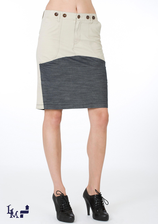 パネル・スカートの写真例。
