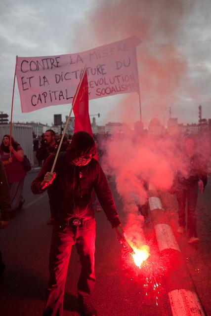 Lyon - Manifestation contre la réforme des retraites