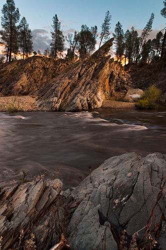 ca sunset rock creek river landscape us granite redding pinetrees magichour clearcreek