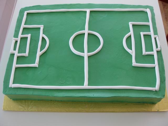 Magnificent Soccer Field Birthday Cake Polkadots Olga Flickr Funny Birthday Cards Online Aboleapandamsfinfo