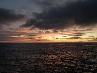 The North Atlantic Ocean - Sunrise and Dark Clouds