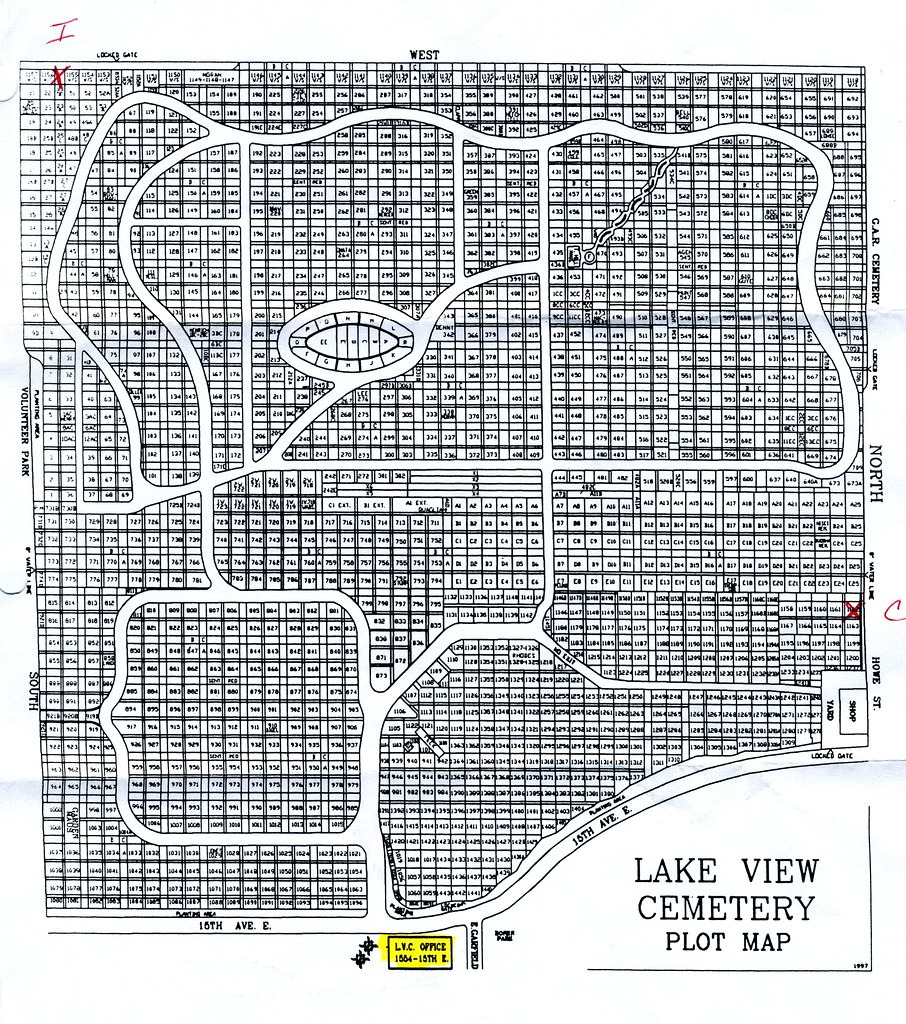 lake view cemetery map Lakeview Cemetery Plots An Overview Of The Cemetery Our U Flickr lake view cemetery map