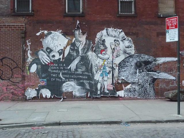 Elbow-Toe, Mr. Brainwash, Clown Soldier & Gaia Street Art
