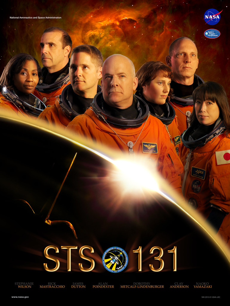 STS-131 Mission Poster   The Space Shuttle STS-131 Mission P