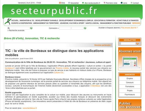 Secteur publique - Bordeaux