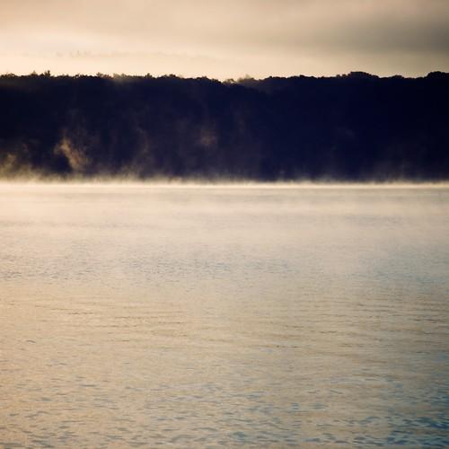 mist lake sunrise maine bridgton