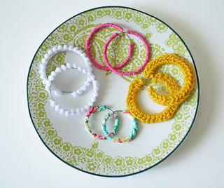 A Plate Full of Earrings | by ohsohappytogether