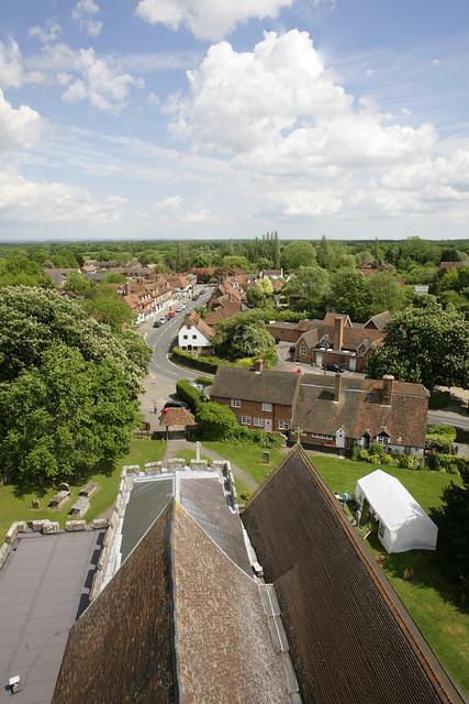 Biddenden village church view - kent.