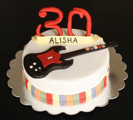 Guitar Hero Birthday Cake