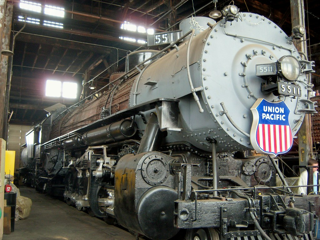 UP #5511 | Union Pacific #5511, a 2-10-2, sitting in the Uni