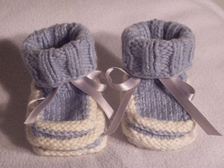 Norse-Borgen multi-colored ridge Baby Booties (Boy's) | by handmaidenbymaria