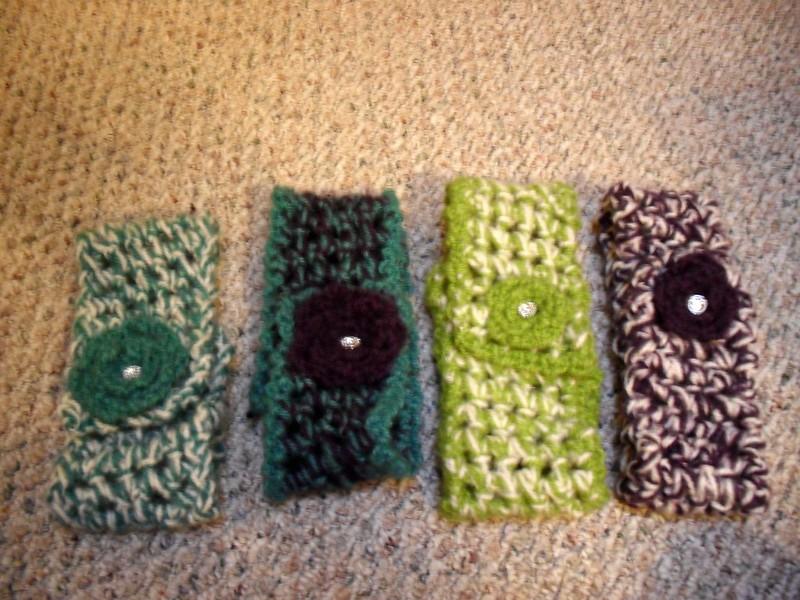 Crocheted Flower Scarves