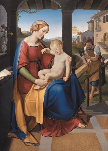 Schadow, Wilhelm (1788-1862) - 1818 The Holy Family Beneath the Portico (Nieue Pinakothek, Munich)