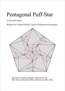Pentagonal Puff Star CP   by ale_beber_origami