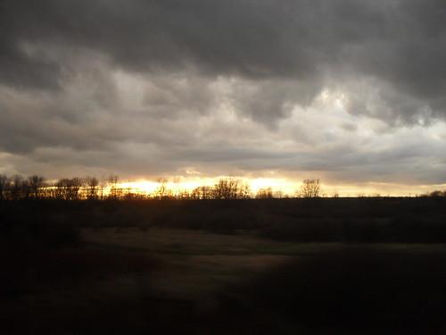sunset ontario train viarail