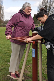 Friends of Sandall Park trying out the equipment | by Community Spaces Fund