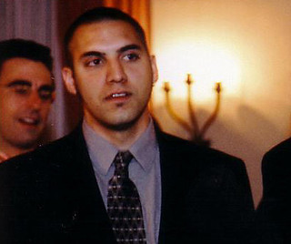 Looking all smart at our wedding reception - taken Valentine's Day '04