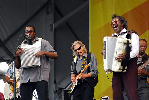 Buckwheat Zydeco at Jazz Fest on April 30