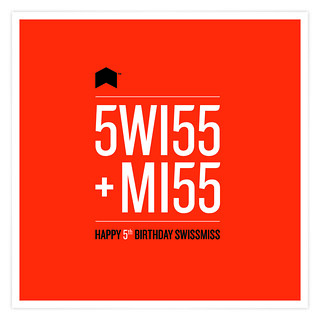 Happy 5th Birthday, Swissmiss!