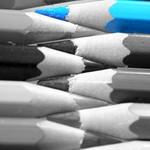 le crayon bleu