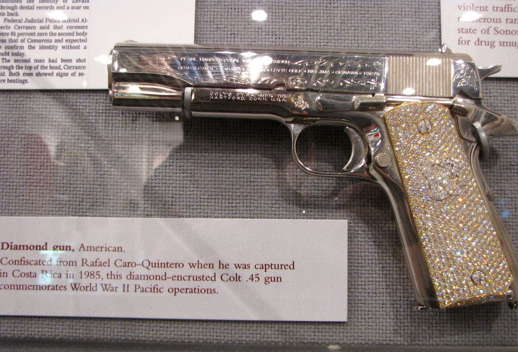 Diamond-encrusted Colt  45 | DEA Museum, Arlington, VA | Flickr