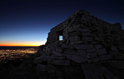 sunset stone twilight cabin dusk albuquerque