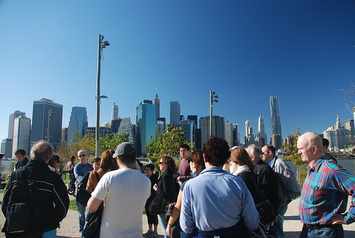 Beginning the Tour of Brooklyn Bridge Park