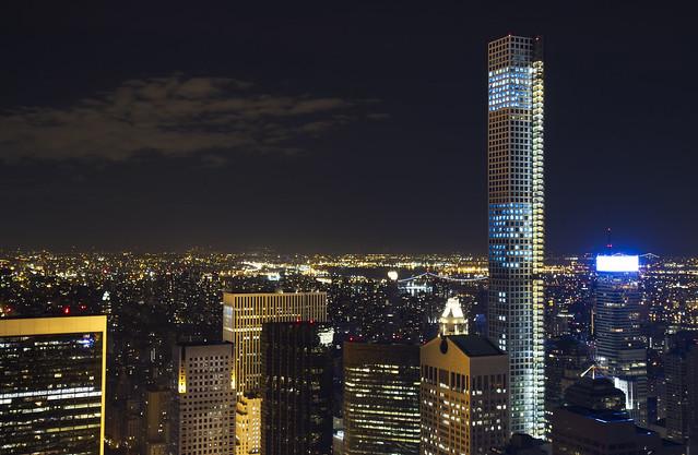 432 Park Avenue building at night