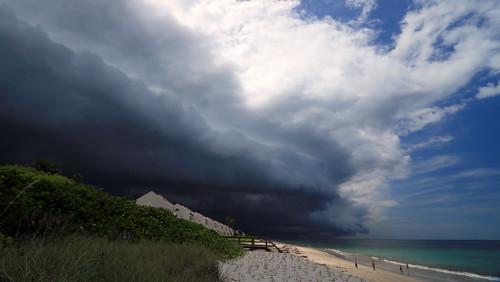 ocean sky storm beach nature water weather clouds landscape day skies florida cloudy atlanticocean extremeweather stormfront indianrivercounty img4238 verobeachfl kmprestonphotography projectweather