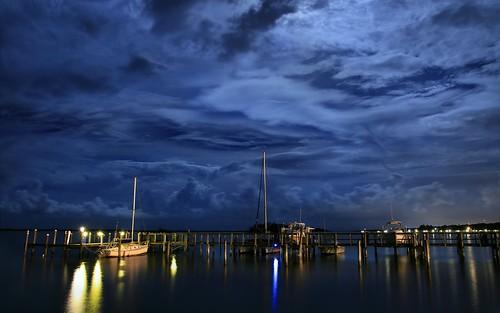 blue sky moon water weather night river landscape nightscape florida cloudy nightshots riverfront nightsky indianriver sebastianfl indianrivercounty kmprestonphotography projectweather 20150801192941mc