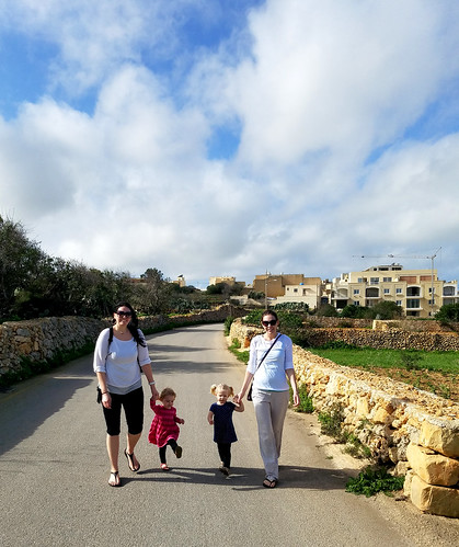 2016 - Europe - Gozo - Beach Day - Sisters Walking | by SeeJulesTravel