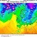 GFS předpověď teploty