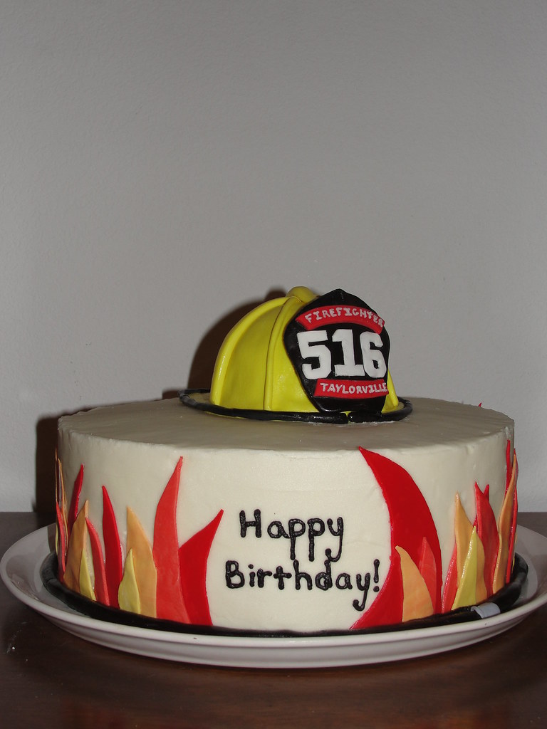 Stupendous Fireman Birthday Cake Dreamy Delights Flickr Funny Birthday Cards Online Elaedamsfinfo