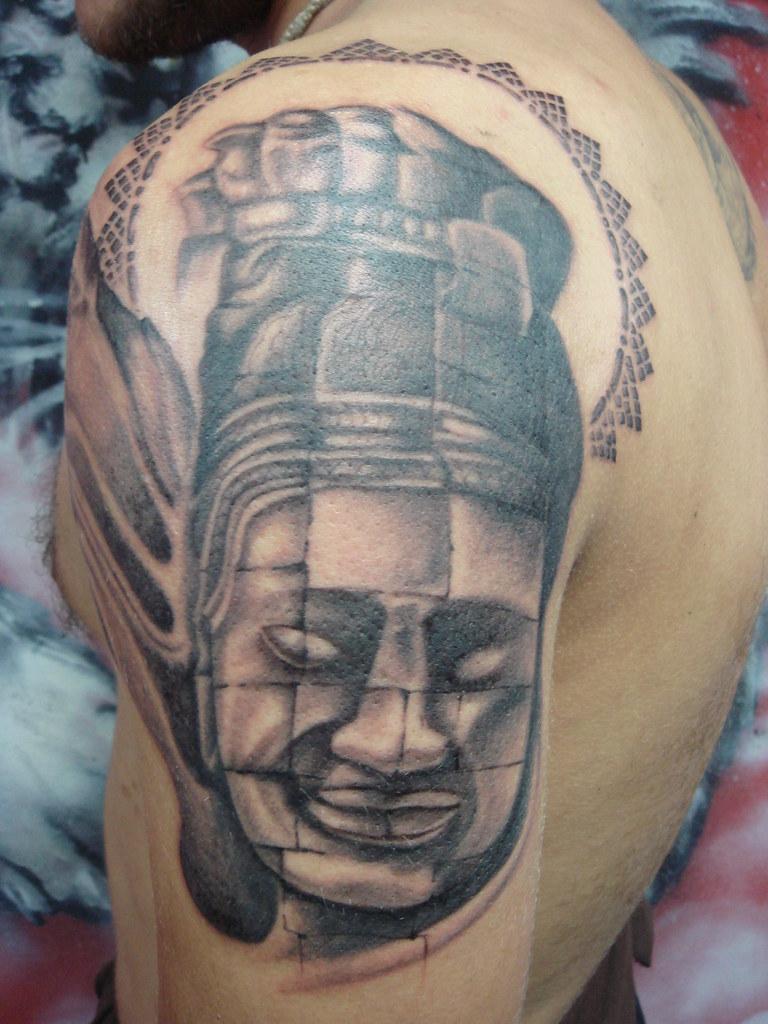 Angkor Wat Statue Dejavu Tattoo Studio Chiangmai Thailand Flickr