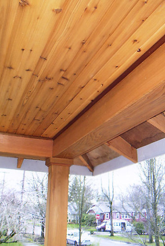 Tongue In Groove Porch Roof Detail The Box Beam Posts And