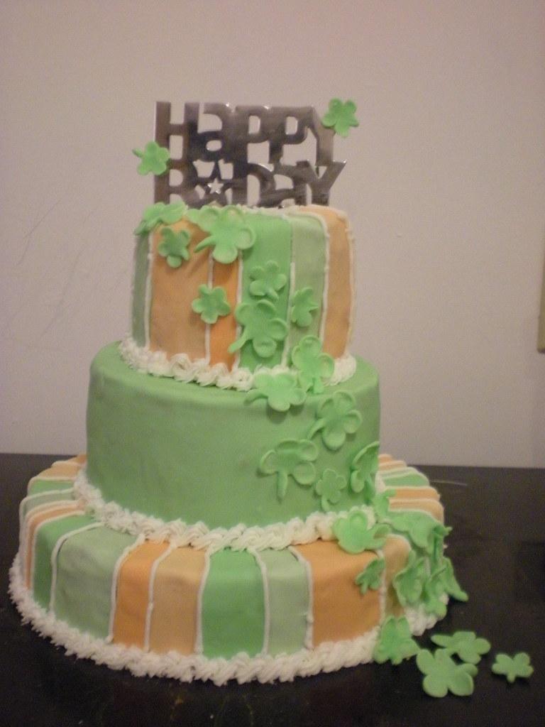 Strange Irish Birthday Cake Ii The Cake Itself Is Five Layers Of S Flickr Personalised Birthday Cards Veneteletsinfo