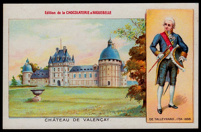 French Tradecard - Chateau De Valencay