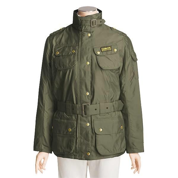 Barbour metallic international jacket