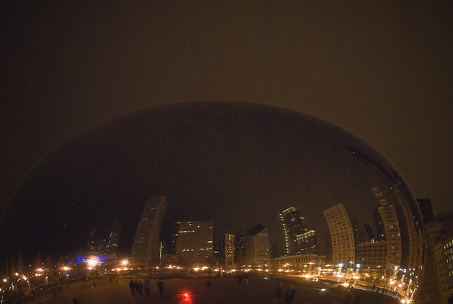 Earth Hour Chicago 2010 Bean - March 27, 2010