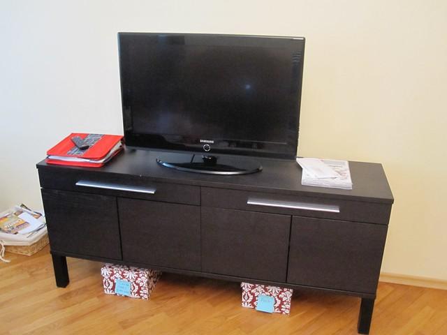 L5 Ikea Bjursta Sideboard Used As Tv Cabinet So 2 Holes Flickr
