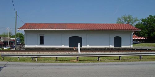 architecture buildings georgia oldbuildings historic americana smalltowns historicbuildings depots grantville commercialbuildings antiquebuildings railroadstructures tracksidebuildings