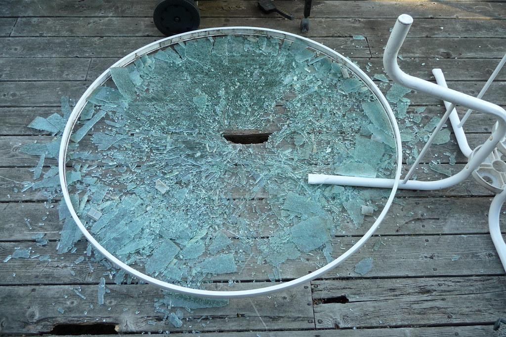 Broken Glass Table Angela Flickr