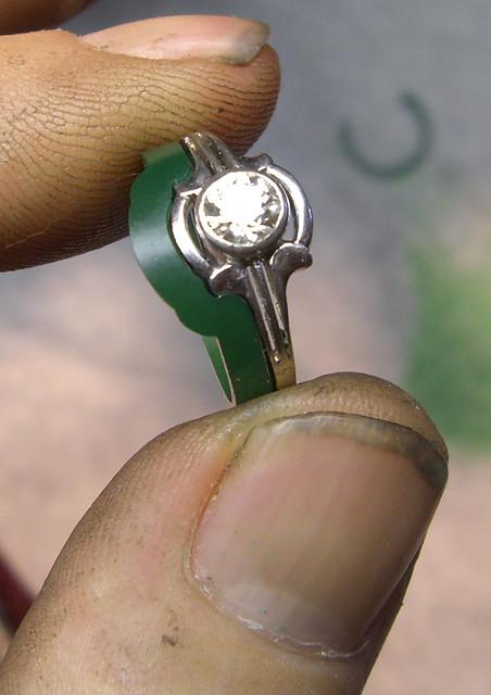 14K Paisley Diamond Wedding Ring / WIP / 6