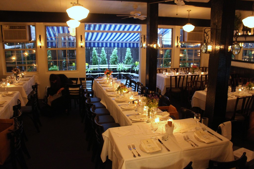 Back room with garden 2   The Mermaid Inn, NYC   Flickr