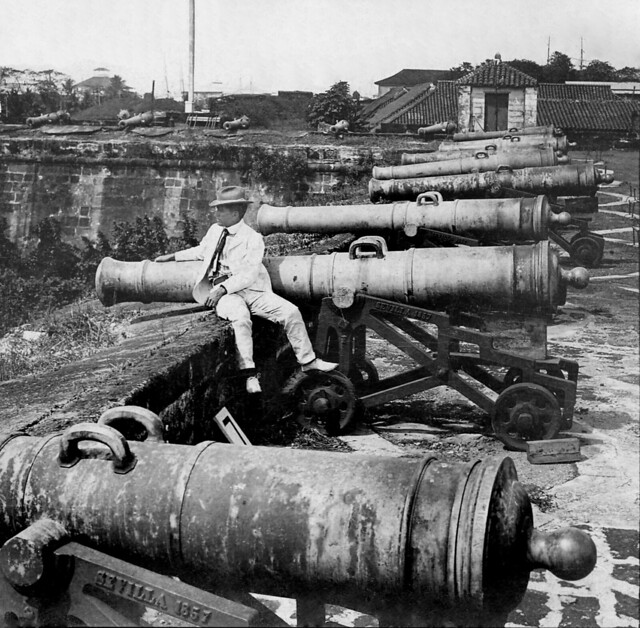 Spanish Cannons, Fort Santiago, Intramuros, Manila, Philippines 1902
