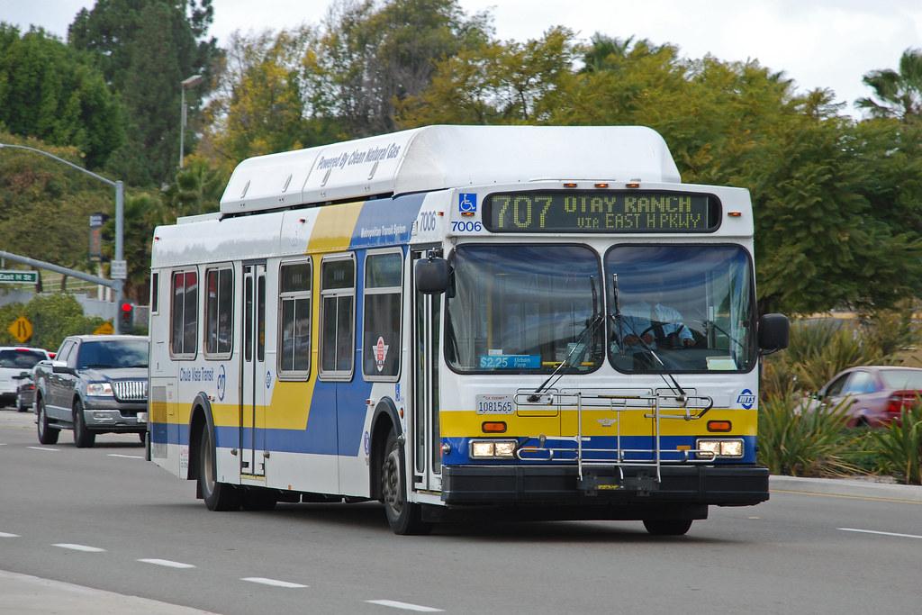 Chula Vista Transit New Flyer C40lf Bus In Chula Vista