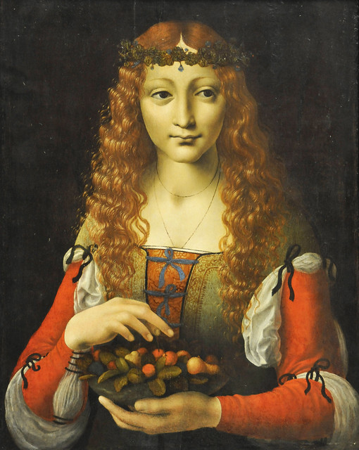 Girl with Cherries Attributed to Giovanni Ambrogio de Predis (Italian, Milanese, active by 1472, died after 1508)ca. 1491–95. MET, NYC