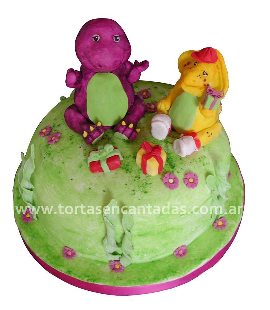 Wondrous Barney And Bj Cake Torta De Barney Y Bj Barney And Bj Mod Flickr Funny Birthday Cards Online Sheoxdamsfinfo
